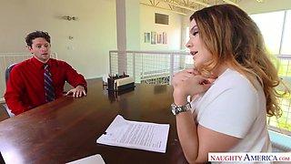 Office slut Natasha Nice is fucked hard right on the table
