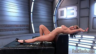 Solo pussytoying milf drilled deeply