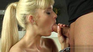 Defloration of sultry chick tight vagina and masturbating