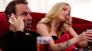 Svelte pallid lady Karla Kush loves the way dude licks her both holes