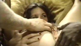 Crazy interracial retro video with Angela Haze and Charla Miss '42'