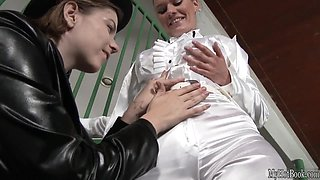 Marina Visconti surprises her girlfriend, Kitana Lure, with a fake holdup after the