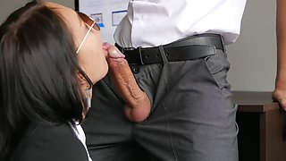 secretary fucking with her boss