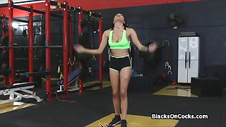 cock workout with bigtit black beauty