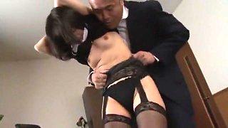 Exotic Japanese chick Nana Nanaumi in Crazy Secretary, Handjobs JAV movie