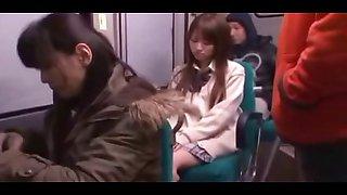 cute schoolgirl fucked on night bus