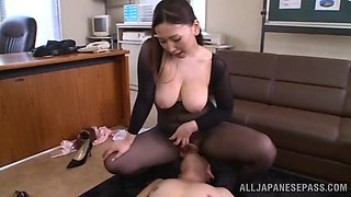 Sexy Japanese milf fucked hardcore in missionary style