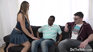 White Wife Suzie Sun Takes a Black Dick Anally as Hubby Looks
