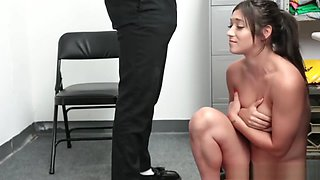 Horny Mall Officer enjoys fucking Brooklyn Grays tight pussy in the office