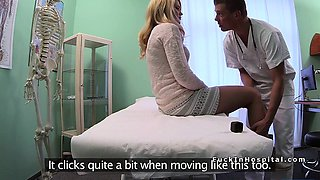 Doctor bangs blonde in office on cctv