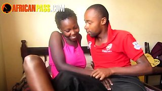 Young Real African Couple Intimate Fucking