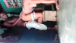 Fucking my girl on a kitchen stool