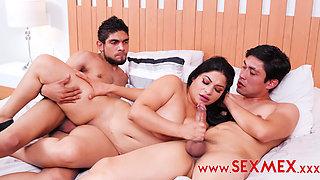 Mia Sanz Having fun with her nephews