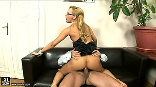 juicy blonde aleska diamond gets impaled by her sex starved boss