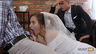 Bride stacy cruz fucks in front of her husband for free rent (on the wedding day)