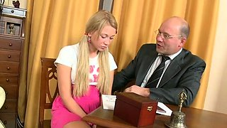 Slender teen adores playing with her clit