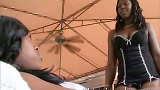 Black teen has milf ebony lover who cant resist her smoking