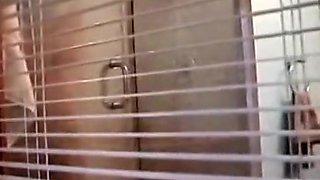 Hidden cam footage my showering aunt