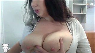 Huge tits milk beauty spraying