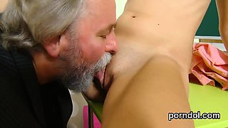 Innocent schoolgirl gets tempted and banged by older mentor