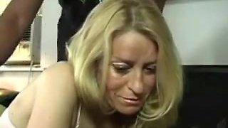 Blonde Milf Gets Her Arse Thrashed