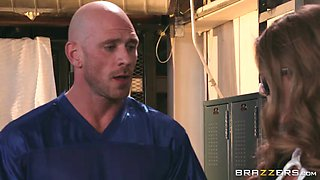 lena paul gets the scoop of the century from  johnny sins