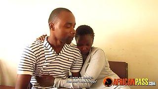 Cute african couple films shower sex