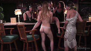 Jenna Sativa and her cute friend get to satisfy one another