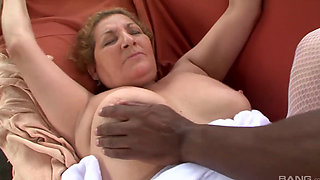 Latina granny seduces BBC to get IR assfucked