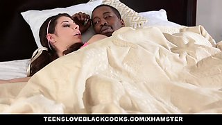 TeensLovesBlackCocks - Cute sister wakes up not bro To Fuck
