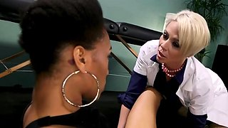 Kinky Doctor Plays With Her Female Slave