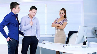 Ornella Morgan joins Pavlos and Michael Tovis Bi sex