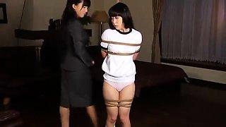 Kinky Japanese lesbians fulfill their bondage fetish fantasy
