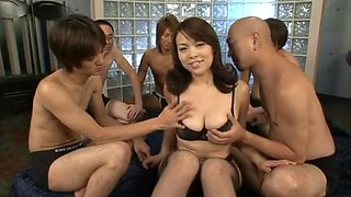 Reiko Nakamori Uncensored Hardcore Video with Gangbang, Creampie scenes