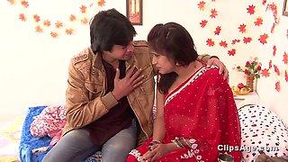 Hot desi bhabhi hard boobs pressing romance on bed &amp bathroom