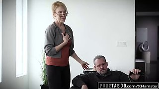 Pure taboo delinquent teens corrupted by perv stepgrandpa