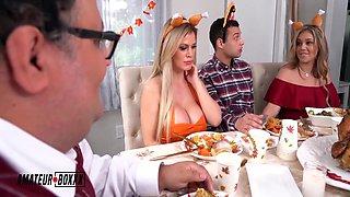 Kali & Cascas Crazy Cuckhold Threesome Thanksgiving