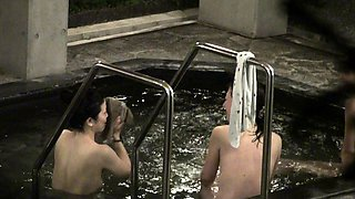 Desirable amateur Asian ladies taking a bath on hidden cam