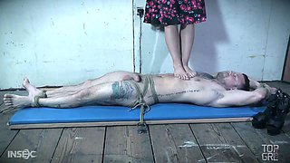 Sexy London River is one wicked mistress and she is really into trampling