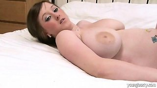 Big boobed spanking lover