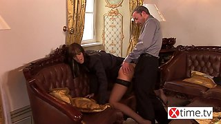 Young italian intern gets a big cock in the ass by his boss