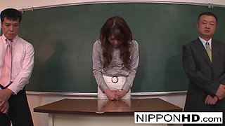 Hot Japanese Teacher Is Punished In Front Of Her Students - NipponHD