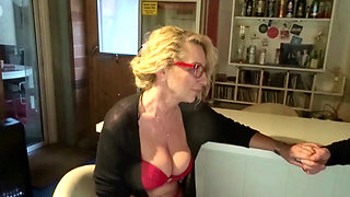 Saggy Tits Mother Bi Jenny love to Fuck with Young Guy Dicks