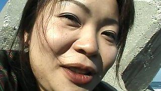 Japanese MILF fondles her cherry upskirt in amateur video