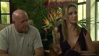 Blonde hottie Xandra Sixx is cheating on her boyfriend with lesbian girlfriend