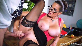 large boobed teacher sensual jane taking a pounding on her desk