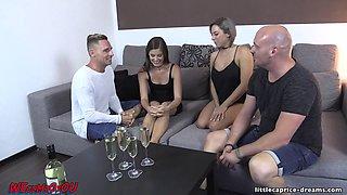 Sexy foursome where everyone gets to cum