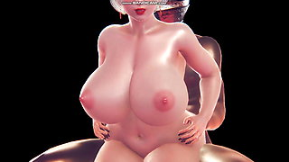 2B 3d CG animation sex Big tits