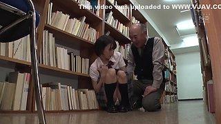 Japanese schoolgirl abused by mature men.