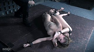 Busty MILF slave Ashley Lane and her slutty friend abused together